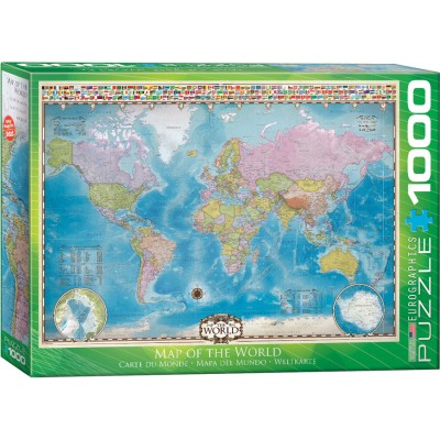 Puzzle Map of the World Eurographics-6000-0557 1000 Teile Puzzle ...