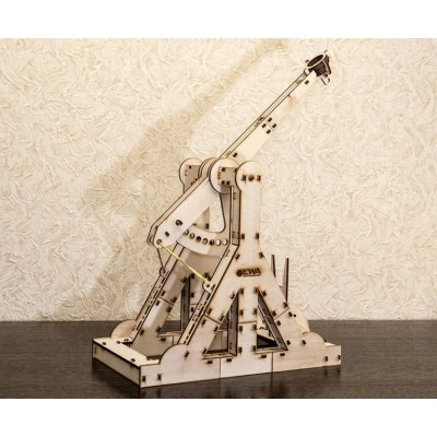 Eco-Wood-Art-01 3D Holzpuzzle - Trebuchet