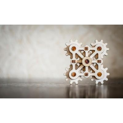 Eco-Wood-Art-14 3D Holzpuzzle -  Twister Mini