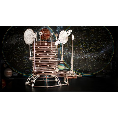 Eco-Wood-Art-26 3D Holzpuzzle - Planetarium