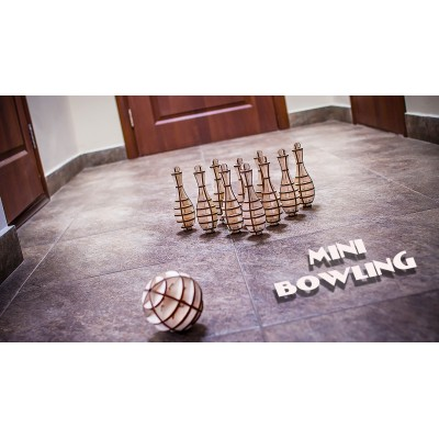 Eco-Wood-Art-27 3D Holzpuzzle - Mini Bowling