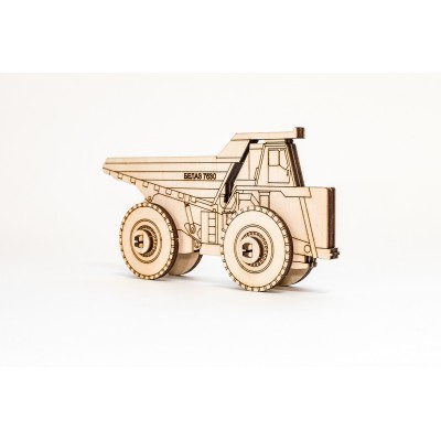 Eco-Wood-Art-33 3D Holzpuzzle - Belaz 2D
