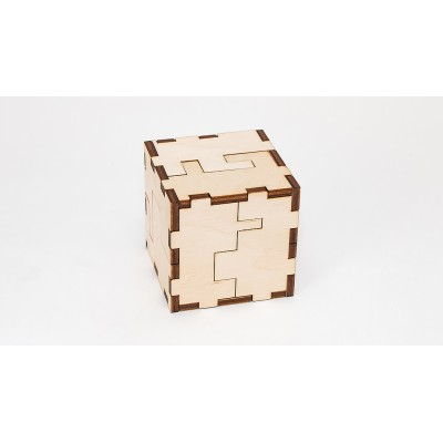 Eco-Wood-Art-35 3D Puzzle Cube