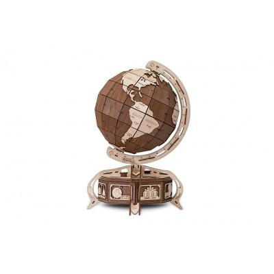 Eco-Wood-Art-38 3D Holzpuzzle - Globe (Braun)