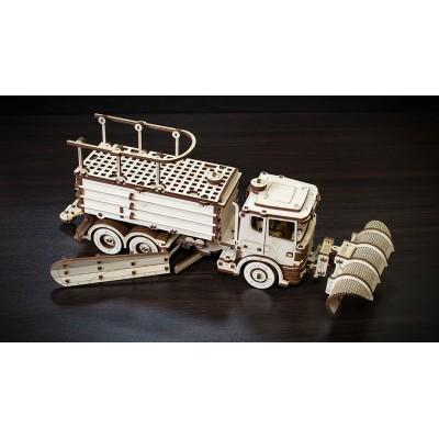 Eco-Wood-Art-40 3D Holzpuzzle - Schneewagen