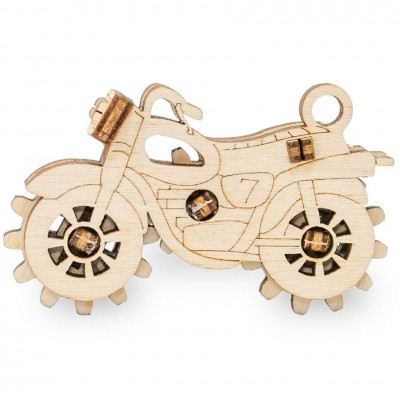 Eco-Wood-Art-54 3D Holzpuzzle -  Bike