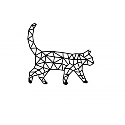 Eco-Wood-Art-93 Wooden Puzzle - Cat
