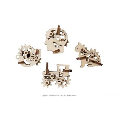 Ugears-12058 3D Holzpuzzle - U-Fidgets-Tribiks