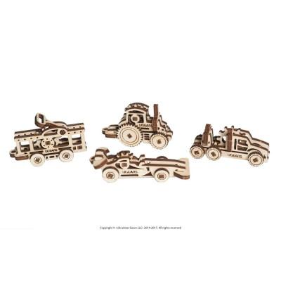 Ugears-12061 3D Holzpuzzle - U-Fidgets-Vehicles