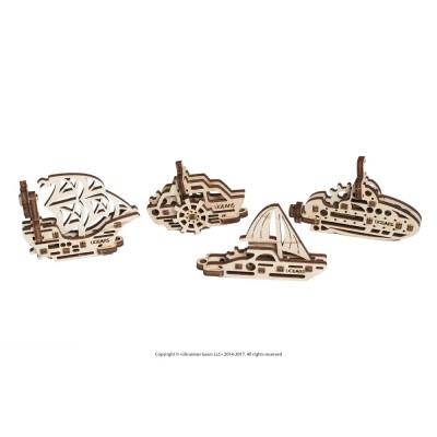Ugears-12063 3D Holzpuzzle - U-Fidgets-Ships
