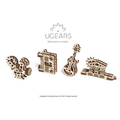Ugears-12069 3D Holzpuzzle - U-Fidgets-Creation Set