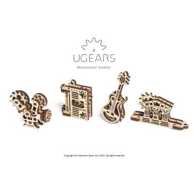 Ugears-12069 3D Holzpuzzle - U-Fidgets-Creation Set