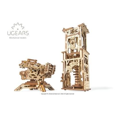 Ugears-12075 3D Holzpuzzle - Archballista-Tower