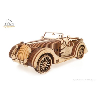 Ugears-12081 3D Holzpuzzle -  Roadster VM-01