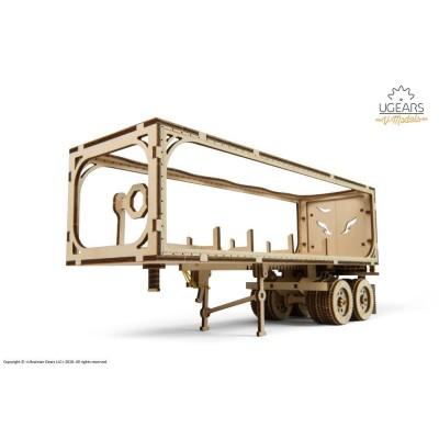 Ugears-12087 3D Holzpuzzle - Anhänger für Heavy Boy Truck VM-03