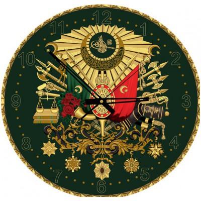 Art-Puzzle-4138 Puzzle-Uhr mit Gold-Pailleten - Osmanisches Wappen