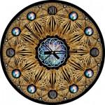 Art-Puzzle-4148 Puzzle-Uhr - Golden