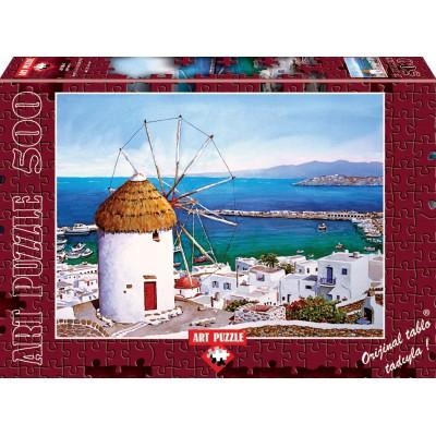 Puzzle Art-Puzzle-4184 Greece: Mykonos