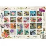 Puzzle  Art-Puzzle-4207 Collage von Briefmarken