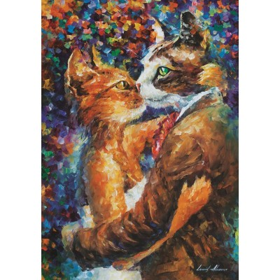 Puzzle Art-Puzzle-4226 Dance of the Cats in Love