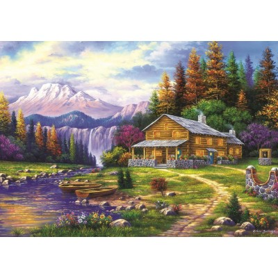 Puzzle Art-Puzzle-4230 Sunset in the Mountains