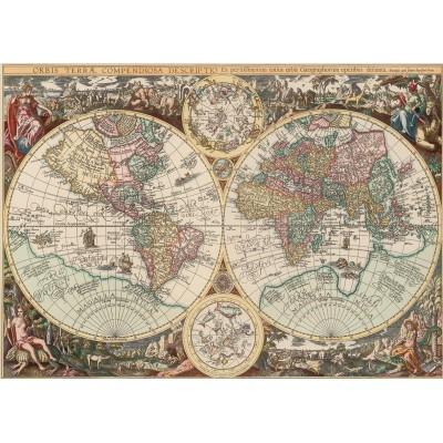 Puzzle Art-Puzzle-4276 Antike Weltkarte