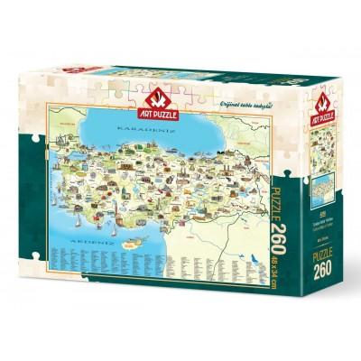 Puzzle  Art-Puzzle-4288 Karte von Türkei