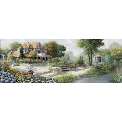 Puzzle  Art-Puzzle-4333 Peter Motz: English Cottage