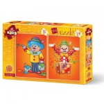 Art-Puzzle-4487 2 Puzzles - Clowns