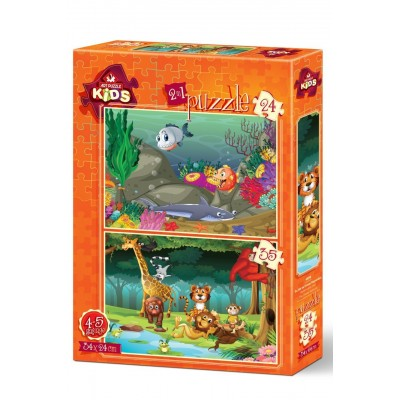 Art-Puzzle-4494 2 Puzzles - Wildlife