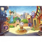 Puzzle  Art-Puzzle-4507 The Kitty Town