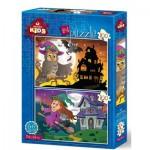 Art-Puzzle-4517 2 Puzzles - Halloween