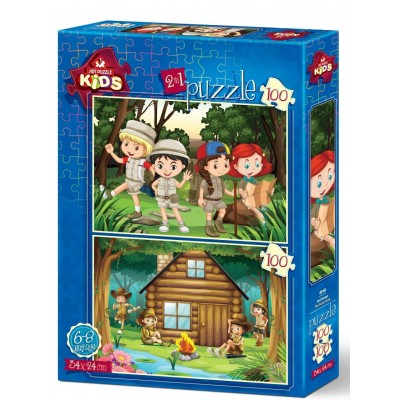 Art-Puzzle-4519 2 Puzzles - Das Pfadfinderlager