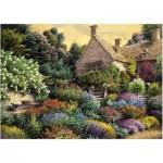 Puzzle  Art-Puzzle-4541 Cottage und bunter Garten