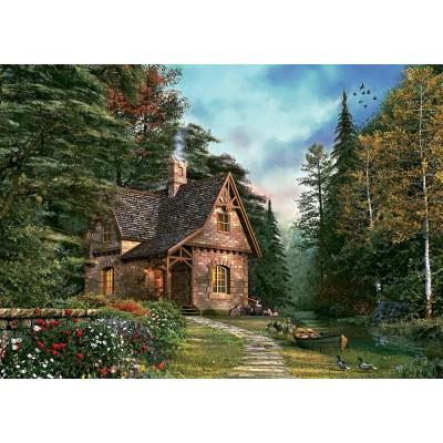 Puzzle Art-Puzzle-4621 Dominic Davison: Woodland Cottage