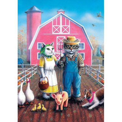 Puzzle Art-Puzzle-5028 Cat Farm