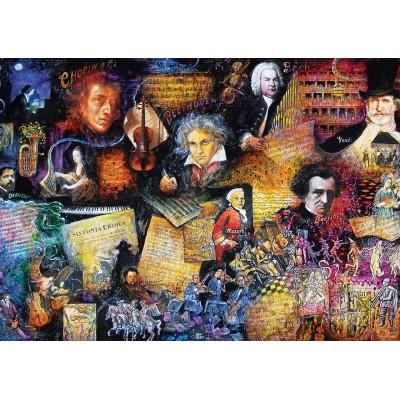 Puzzle Art-Puzzle-5031 Musikliebhaber
