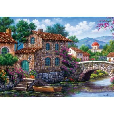 Puzzle  Art-Puzzle-5070 Flowery Channel