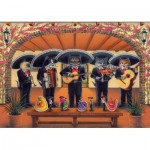 Puzzle  Art-Puzzle-5082 Flamenco Meow Team