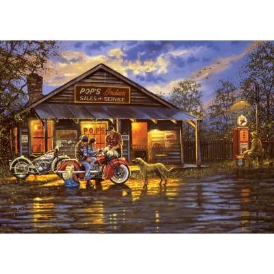 Puzzle  Art-Puzzle-5190 Motorcyclist
