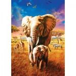 Puzzle  Art-Puzzle-5204 Mother Elephant