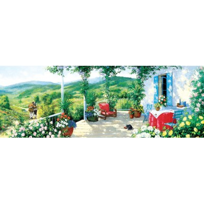 Puzzle Art-Puzzle-5349 The Guest on the Veranda