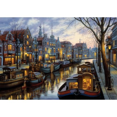 Puzzle  Art-Puzzle-5389 The Light of the Canal
