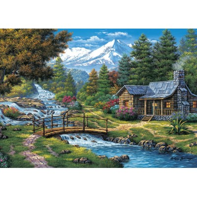 Puzzle  Art-Puzzle-5471 Two Small Waterfalls