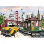 Puzzle  Art-Puzzle-5473 Collage America
