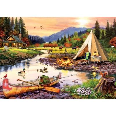Puzzle Art-Puzzle-5520 Camping Friends