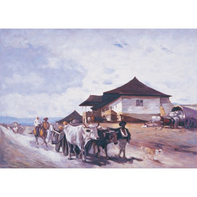 Puzzle  Art-Puzzle-80522 Ox Cart At OratII