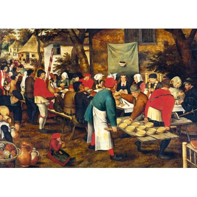 Puzzle  Art-by-Bluebird-60025 Pieter Brueghel the Younger - Peasant Wedding Feast