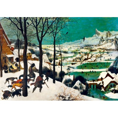 Puzzle  Art-by-Bluebird-60029 Pieter Bruegel the Elder - Hunters in the Snow (Winter), 1565