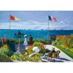 Puzzle  Art-by-Bluebird-60042 Claude Monet - Garden at Sainte-Adresse, 1867